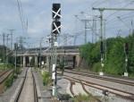 Neues Haupt/Vorsignal richtung Ansbach. Das Vorsignal gehört zum Esig Schweinau