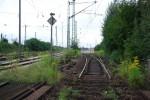 Abgebundenes Gleis zum ehem. Containerbahnhof