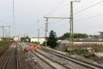 Ansbach, 7.9.2010 - Weichenbereich nach dem Esig