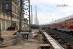 Fürth Hbf 03.10.10: Fundamente für neue Bahnsteigkante Gleis 1