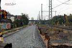 Nürnberg-Doos 17.10.10: Aufbau des S-Bahngleises