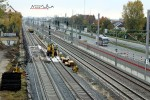 Nürnberg-Doos 17.10.10: Blick vom Leiblsteg in Richtung Nürnberg auf alle 4 Gleise