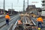 Fürth Hbf 07.11.10: Blick vom östlichen Ende des Bahnsteiges in Richtung Westen