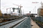 Nürnberg-Doos 07.11.10: S-Bahngleis mit Einfahrvorsignal Fürth Hbf
