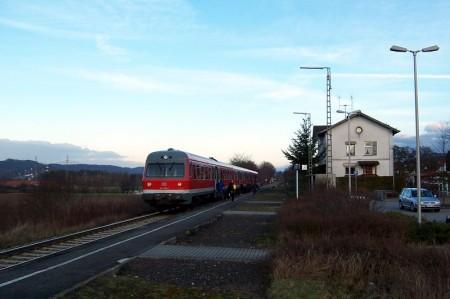 614 069+070 als RB nach Hartmannshof am 09.02.2007 in Henfenfeld