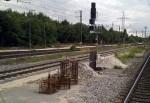Stein, 30.7.2011. Eines von vielen neuem Mastfundamenten im Bau.
