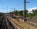 15.10.2011 - Untergrundvorbereitung für die Weiche 8220 in Stein