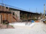 Bau der Regnitzbrücke auf der Unterfarrnbacher Seite - 23.10.2011