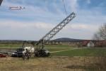Mast 8100: Ablegen des Mastturmes