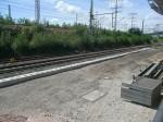 Fundamente für die Bahnsteigkante
