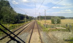 Bahnübergang an der ehemaligen Ortsverbindungsstraße Petersaurach - Gleizendorf, 11.8.2013