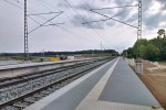Petersaurach Nord, 26.7.2014 - Bahnsteige, Blich Richtung Wicklesgreuth