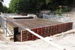 Burgberg 22.08.14: Die neue Eisenbahnbrücke Bayreuther Straße ist eingeschalt