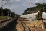Bruck 30.08.14: Das alte Nord-Süd-Gleis ist ausgebaut