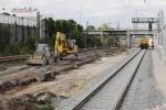 Bruck 22.08.14: Der Blechbahnsteig am Streckengleis Nürnberg - Bamberg ist Geschichte