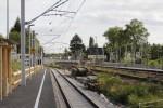 Bruck 30.08.14: Wie in Eltersdorf wurde auch hier der Bahnsteig mit einer Art Gummimatte belegt.