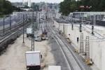 Bruck 30.08.14: Die neue Überleitung (W 602/603) vom Fern- aufs S-Gleis