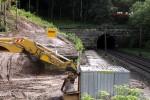 Burgbergtunnel 11.09.14: Bauvorbereitende Maßnahmen für den Tunnel am Nordportal