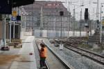 Erlangen 06.09.14: Restarbeiten an der neuen Bahnsteigkante Gleis 1
