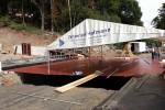 Burgbergtunnel 11.09.14: Abdichtarbeiten an der neuen Brücke Bayreuther Straße