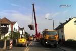 Bruck 05.09.14: Einheben der Brückenüberbauten