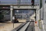 Bruck 05.09.14: Blick vom neuen Holzbahnsteig in Richtung norden