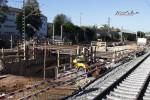 Bruck 19.10.14: Baugrube für Bahnsteigzugang