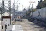 PGS 19.10.14: Blick nach Süden, Bau der Richtungsgleise nach Süden