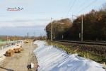 Bubenreuth 21.11.14: Baufeld für die Dammverbreiterung