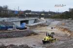 """Burgbergtunnel 21.11.14: Die Führung der Straße """"Bubenreuther Weg"""" ist schon zu erkennen"""