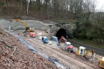 Burgbergtunnel 13.12.14: Vorbereitungen für den Tunnelanstich