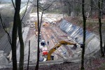Burgbergtunnel 13.12.14: Überblick über die Baustelle an der Nordseite