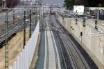 Bruck 14.12.14: Verlegte Schwellen für das S-Bahn-Gleis Nürnberg - Bamberg