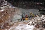 Burgbergtunnel 09.02.15:  Anschlagwand des Nordportals der Oströhre