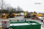 Burgbergtunnel 09.02.15: Baumaschinen für den Tunnelvortrieb