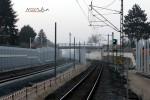 Bruck 20.02.15: Blick in Richtung Eltersdorf; Der Gittermast vor der Brücke steht im Moment noch etwas ungünstig ...
