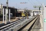 Bruck 20.02.15: Gleisanschwenkung zwischen den beiden S-Bahn-Gleisen
