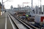 Bruck 20.02.15: Betonarbeiten Aufgang mit Bahnsteigkante Mittelbahnsteig