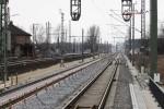 Eltersdorf 06.03.15: Blick vom Holzbahnsteig in Richtung Nordwesten