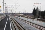 Eltersdorf 06.03.15: Blick vom Holzbahnsteig in Richtung Südwesten mit in Bau befindlicher östlicher Bahnsteigkante