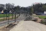 Eltersdorf 19.04.15: Blick von der südlichen Rampe des Überwerfungsbauwerkes in Richtung Süden