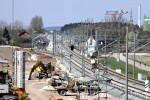 Eltersdorf 19.04.15: Blick von der südlichen Rampe des Überwerfungsbauwerkes in Richtung  Norden