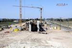 Eltersdorf 19.04.15: Die Widerlager  des Überwerfungsbauwerkes, vorne das südliche