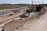 Eltersdorf 19.04.15: Bau der Stützmauer für die nördliche Rampe des Überwerfungsbauwerkes
