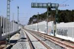 Bruck 19.04.15: Richtungsgleise Süd -> Nord, Blick von der A3-Brücke in Richtung Bruck