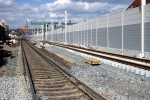 Erl. Gbf 03.04.15: Blick von Weiche 30 in  Richtung Pbf; im Hintergrund die neue Weiche 715