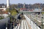 Erlangen Gbf 19.04.15: Blick von der Paul-Gossen-Straße in Richtung Norden