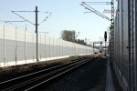 Erlangen Gbf 19.04.15: Die westlichen Gleise auf Höhe Gbf, Blickrichtung Süden