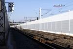 Erlangen Gbf 19.04.15: Die westlichen Gleise auf Höhe Gbf, Blickrichtung Norden