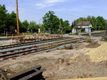 Oberasbach, 14.5.2015 - Blick auf die Baugrube der Fußgängerunterführung